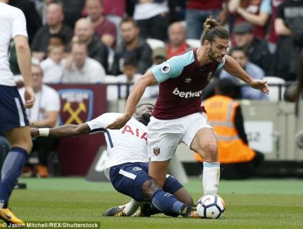 Serge Aurier tacle Andy Carroll